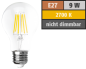 "Preview: LED Filament Glühlampe ""Filed"", E27, 9 Watt, 1055 Lumen, warmweiß, klar, Alternative für 100W Glühbirnen"