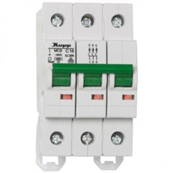 KOPP Leitungsschutzschalter Sicherung Automat 3 polig B20 A