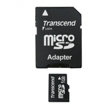 Transcend Micro SDCard 1GB mit 1 Adapter