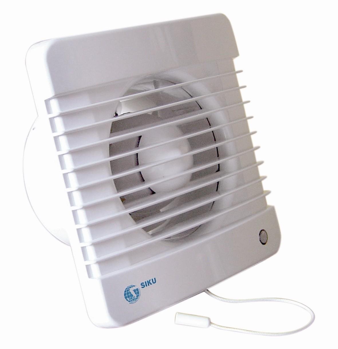 siku 125 mvthl wand und decken ventilator axial mit kugellager dm 125 mm timer. Black Bedroom Furniture Sets. Home Design Ideas