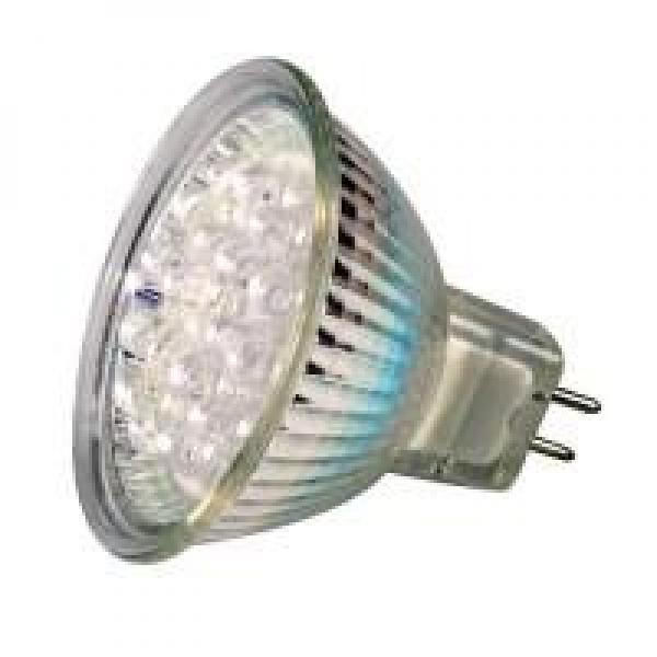 led lampe mit schutzglas 12v 1 3w gu5 3 rot. Black Bedroom Furniture Sets. Home Design Ideas
