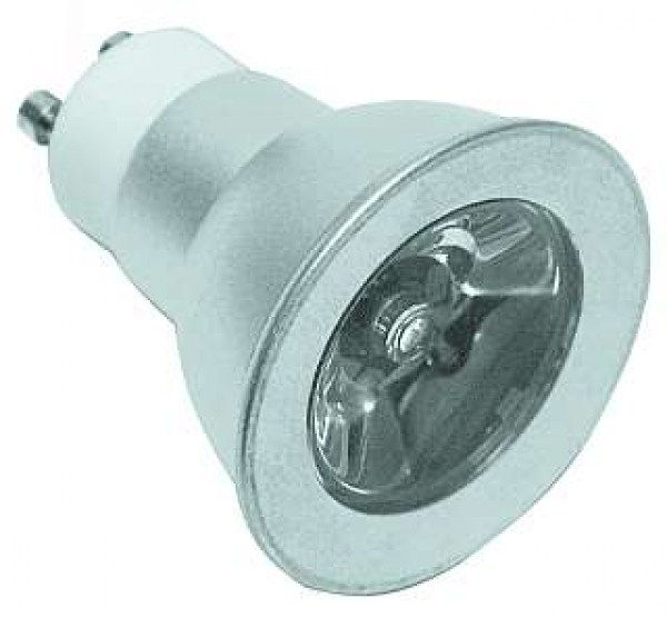 LED-Strahler mit 1W Power-LED GU10, 2.700K, warmwhite, 350mA